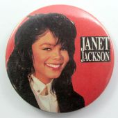 Janet Jackson - 'Janet Red' 56mm Button Badge